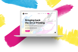 chroma project printing ink competition website design in laptop mockup