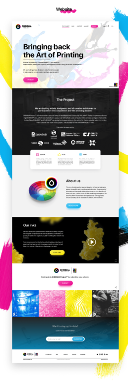chroma project homepage home screen website user interface explaining the contest propositions